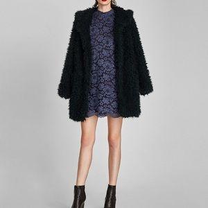 Zara Faded Lace Dress Dark Blue size S